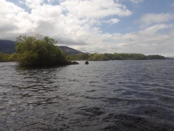 The lake hugging Ross Castle.