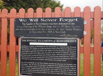 Sign for the Kinsale 9/11 Garden of Remembrance.