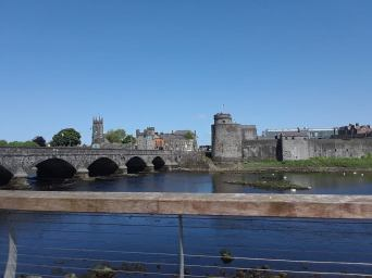Bridge to King John's Castle in Limerick.