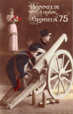 Militaire-Canon_75,_honneur-1915