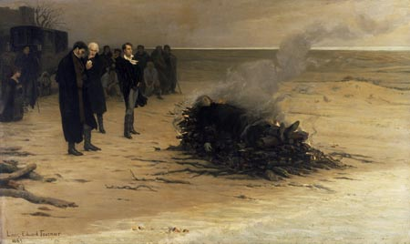The_Funeral_of_Shelley_by_Louis_Edouard_Fournier pub dom